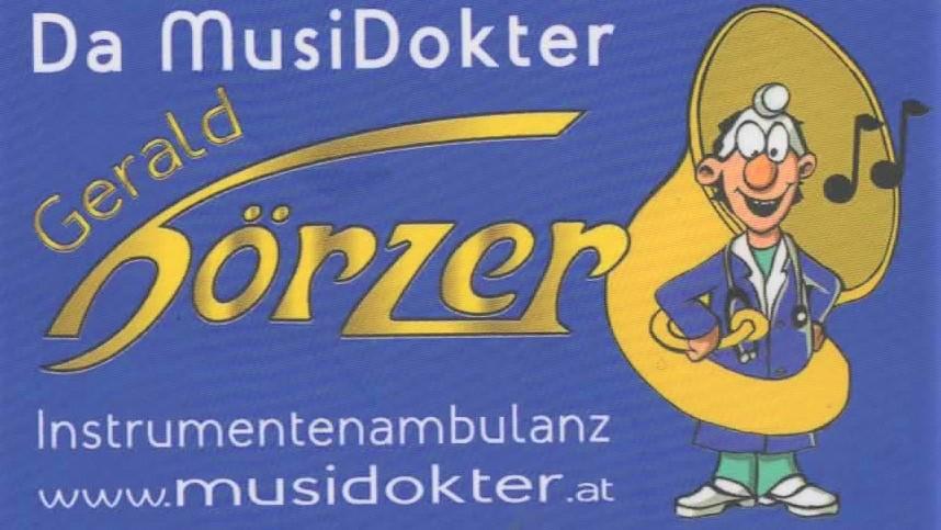 Musidokter Gerald Hörzer – Instrumentenambulanz Logo