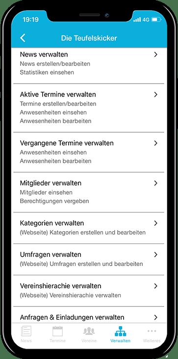 Beste Verwaltung für den Vereinsvorstand über die Vereinsplaner App