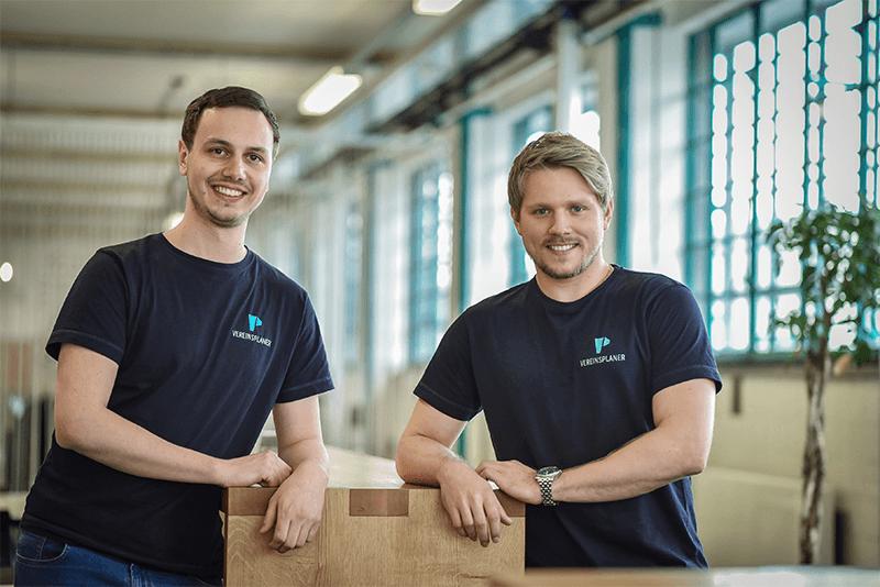 Vereinsplaner Geschäftsführer Mathias Maier und Lukas Krainz